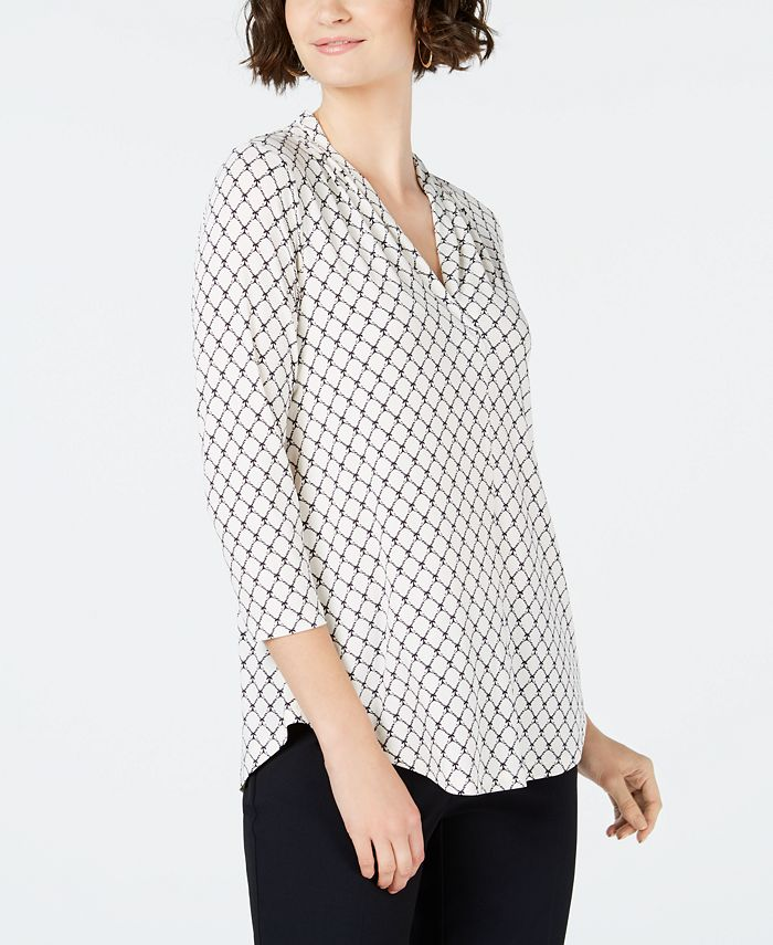 Charter Club - 3/4-Sleeve V-Neck Top, Only at Macy's