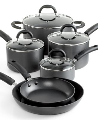 Martha Stewart Collection Hard Anodized 10 Piece Cookware Set