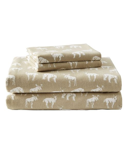Eddie Bauer Novelty Print Queen Flannel Sheet Set Reviews Sheets Pillowcases Bed Bath Macy S