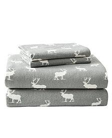 Eddie Bauer Novelty Print King Flannel Sheet Set