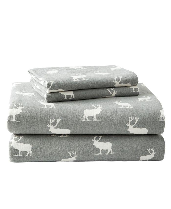 Eddie Bauer - Novelty Print King Flannel Sheet Set
