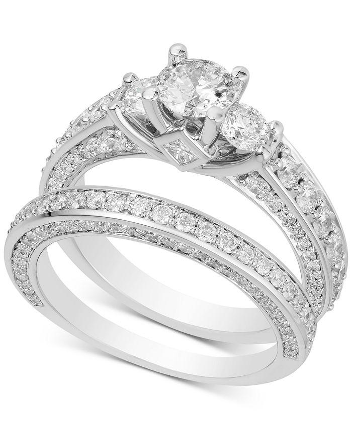 Macy's - Diamond Bridal Set (2-1/2 ct. t.w.) in 14k White Gold