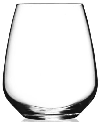 Luigi Bormioli Glassware, Crescendo Chip-Resistant Stemless Wine Glasses, Set of 4