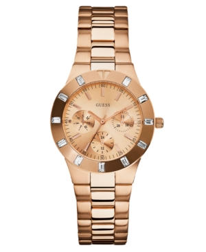 GUESS Watch, Women's Rose Gold Tone Stainless Steel Bracelet 36mm U13013L1