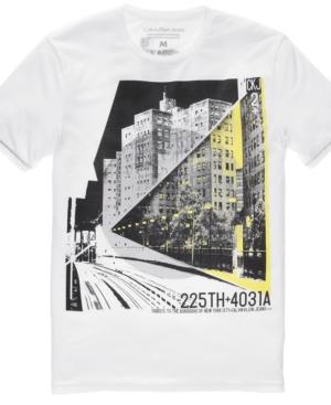 Calvin Klein Jeans Shirt, Short-Sleeved Graphic T Shirt