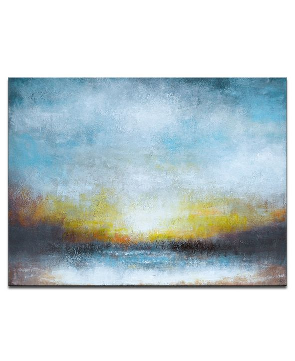"Ready2HangArt 'Night' Abstract Canvas Wall Art, 20x30"""