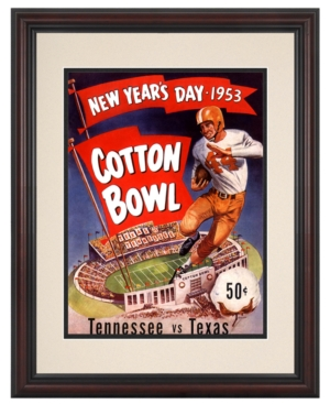 Mounted Memories Wall Art, Framed Texas vs Tennessee Football Program Cover 1953