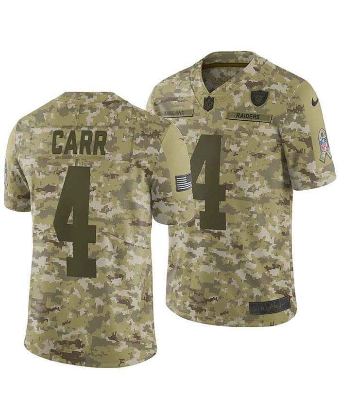 Nike Men's Derek Carr Oakland Raiders Salute To Service Jersey ...