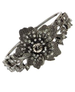 2028 Bracelet, Crystal Floral Cuff Bracelet