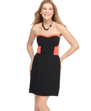American Rag Dress, Strapless Sweetheart Colorblock Bustier