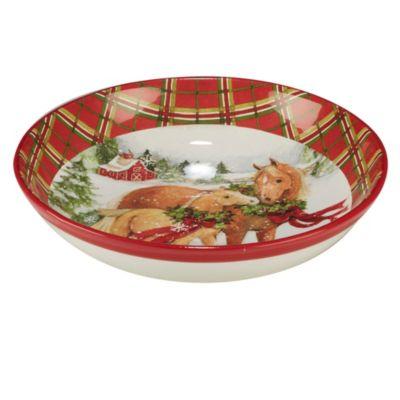 Christmas on the Farm Serving/Pasta Bowl