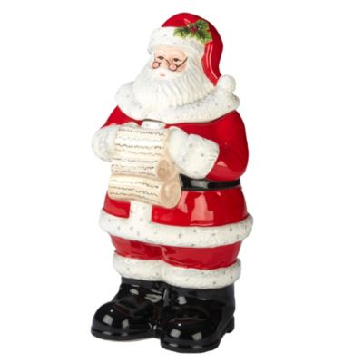 Holiday Wishes 3-D Santa Cookie Jar