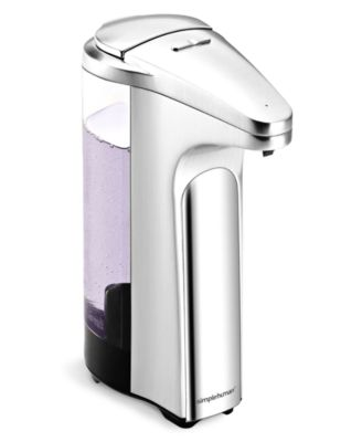 simplehuman Brushed Sensor Pump Soap Dispenser with BONUS Trial Soap