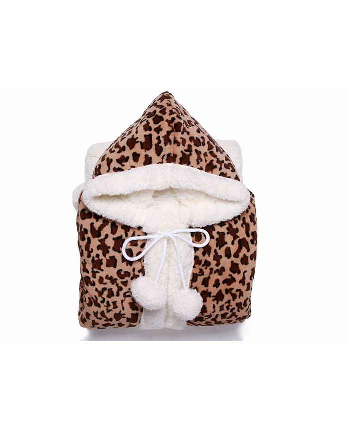 Chic Home - Leopard 1-Pc. 51x71 Hooded Snuggle