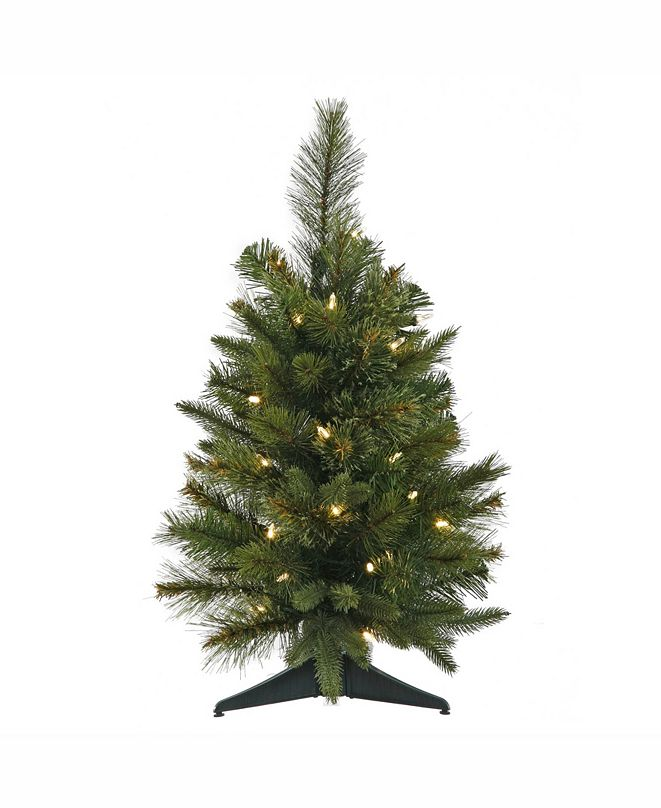 Vickerman 24 inch Cashmere Pine Artificial Christmas Tree With 30 Warm White Led Lights