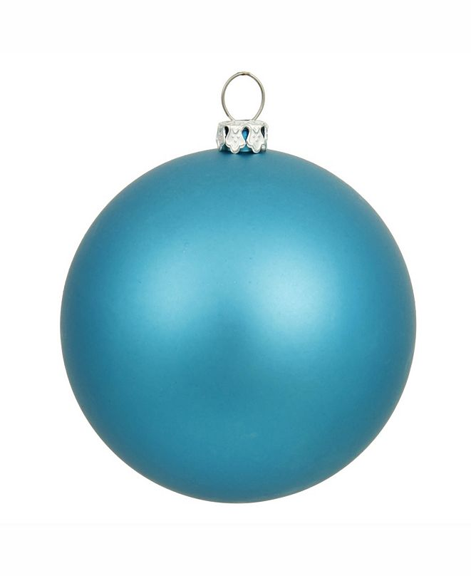 "Vickerman 8"" Turquoise Matte Ball Christmas Ornament"