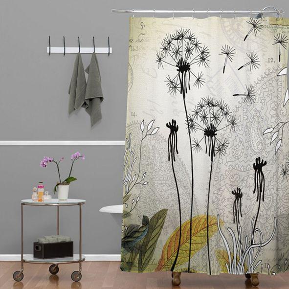 Deny Designs Iveta Abolina Purple Rain Shower Curtain