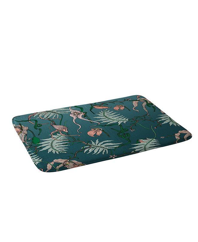 Deny Designs Holli Zollinger Orchid Botanical Bath Mat