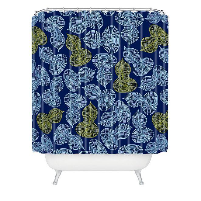Deny Designs Heather Dutton Leaflet Marine Shower Curtain