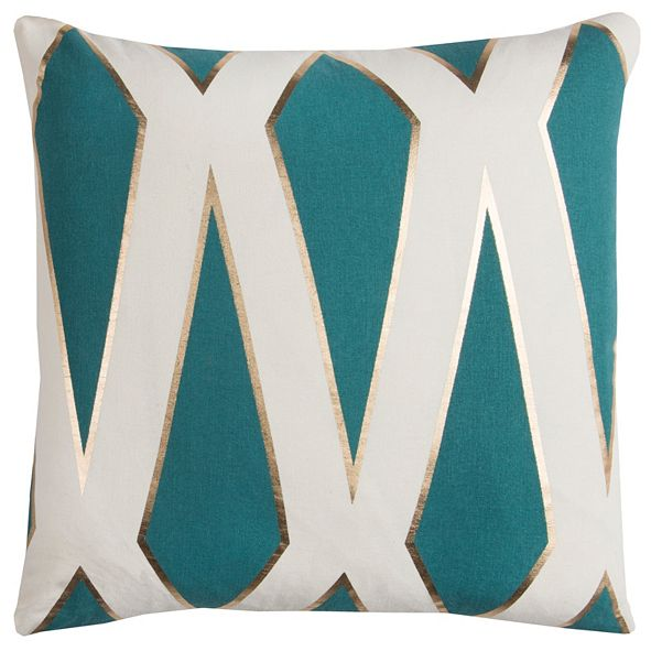 "Rizzy Home Rachel Kate 20"" x 20"" Geometrical Design Poly Filled Pillow"