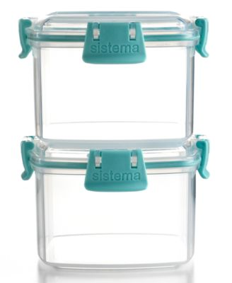 Martha Stewart Collection Food Storage Containers, Set of 2 Square