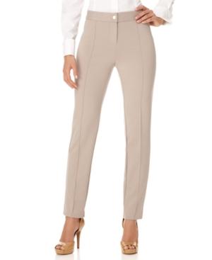 Alfani Pants, Skinny Ponte Seamed Trousers