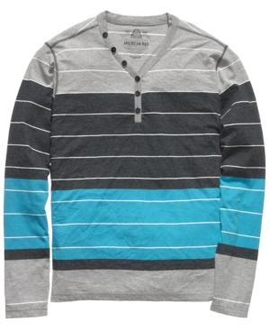 American Rag Shirt, Henley Engineer Striped