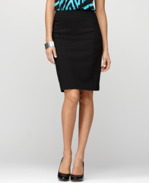 Style&co. Skirt, Comfort Waistband Tummy Control Pleated Back Pencil