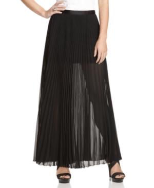 GUESS? Skirt, Chiffon Pleated Maxi