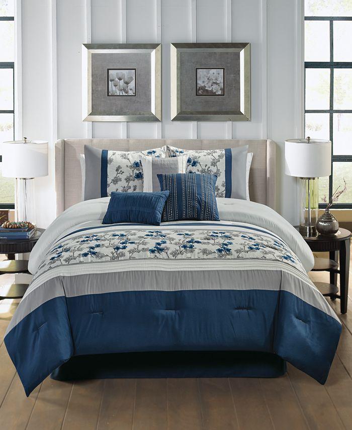 Hallmart Collectibles - Reina 7-Pc. Queen Comforter Set