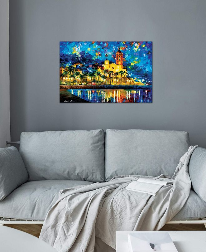 "iCanvas ""Spain, Sitges"" by Leonid Afremov Gallery-Wrapped Canvas Print"