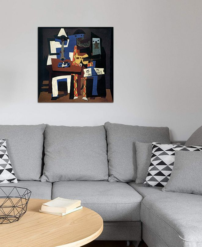 """iCanvas """"Three Musicians"""" by Pablo Picasso Gallery-Wrapped Canvas Print (26 x 26 x 0.75)"""