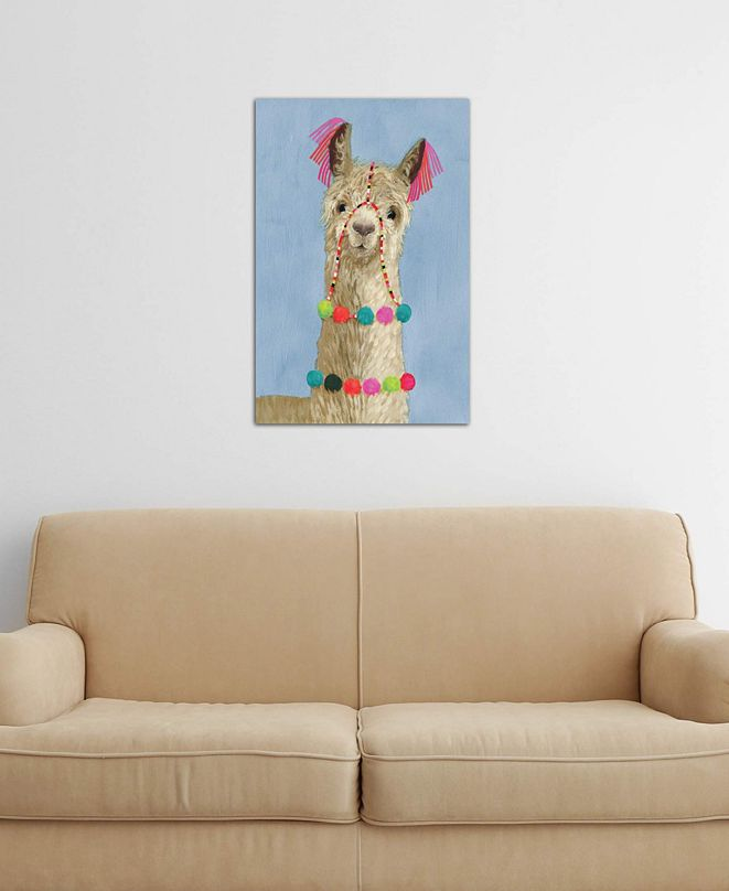 "iCanvas ""Adorned Llama III"" by Victoria Borges Gallery-Wrapped Canvas Print (40 x 26 x 0.75)"