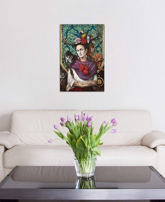 """iCanvas """"Hommage a Frida (A Tribute To Frida) I"""" by Sophie Wilkins Gallery-Wrapped Canvas Print"""