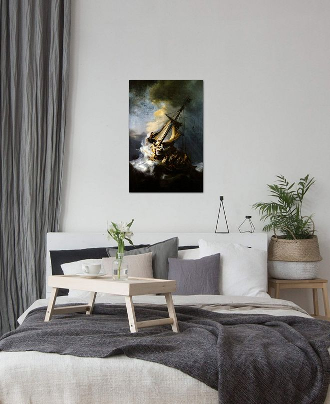 """iCanvas """"The Storm on the Sea of Galilee"""" by Rembrandt van Rijn Gallery-Wrapped Canvas Print (40 x 26 x 0.75)"""
