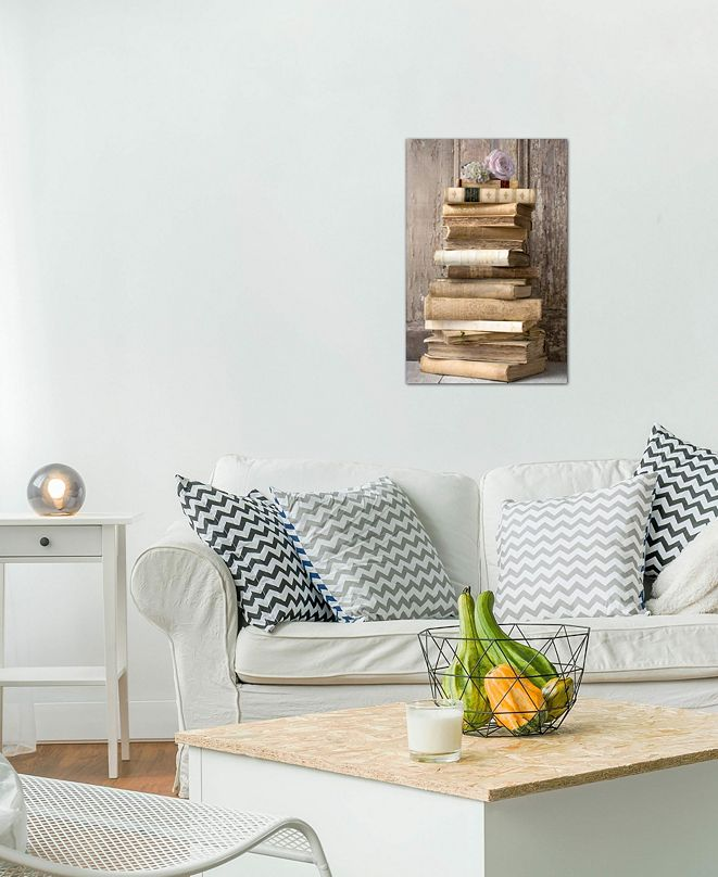 """iCanvas """"Books I"""" by Symposium Design Gallery-Wrapped Canvas Print (26 x 18 x 0.75)"""