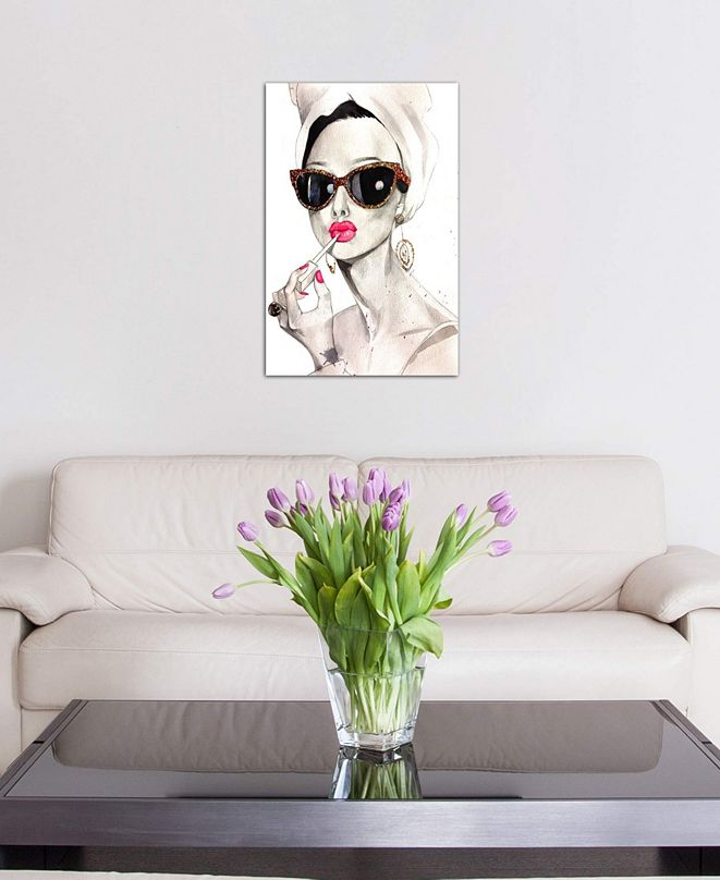 "iCanvas ""Audrey Hepburn"" by Rongrong DeVoe Gallery-Wrapped Canvas Print (26 x 18 x 0.75)"