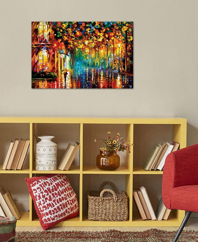 """iCanvas """"Late Stroll"""" by Leonid Afremov Gallery-Wrapped Canvas Print (18 x 26 x 0.75)"""