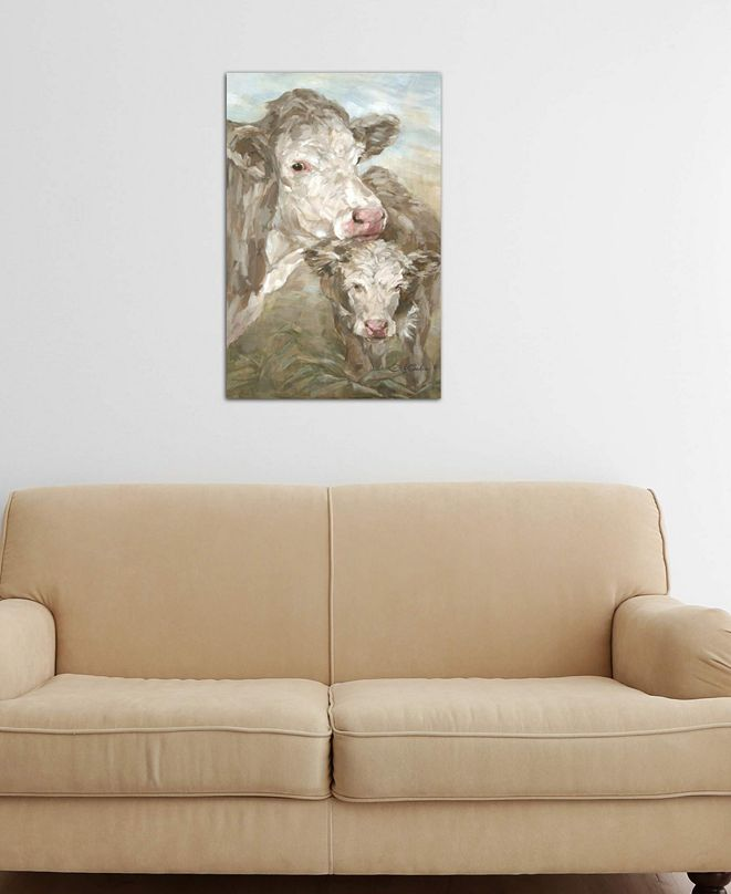 """iCanvas """"Moo Daze"""" by Debi Coules Gallery-Wrapped Canvas Print (26 x 18 x 0.75)"""
