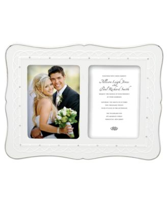 "CLOSEOUT! Lenox Picture Frame, Bliss Double Invitation 5"" x 7"""