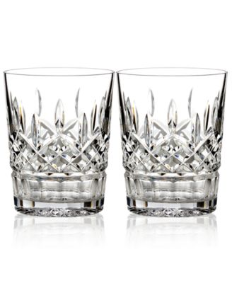 Waterford Barware, Lismore Double Old Fashioned Glasses, Set of 2