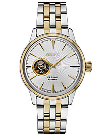 Seiko Men's Automatic Presage Two-Tone Stainless Steel Bracelet Watch 40.5mm