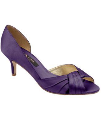 Mid Heel Purple Shoes