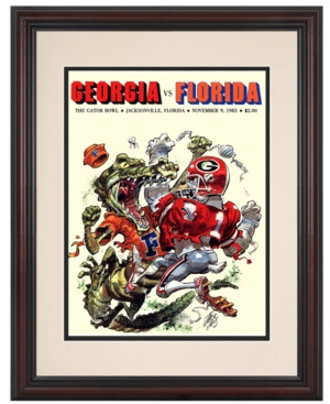 Mounted Memories Wall Art, Framed Florida vs Georgia Gator Bowl Football Program Cover 1985