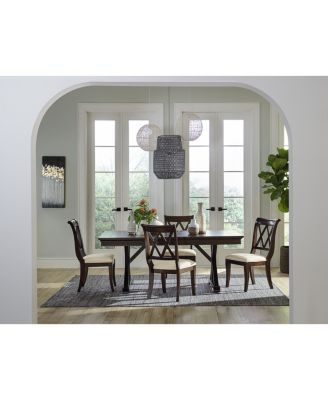 Baker Street Dining Furniture, 5-Pc. Set (Dining Trestle Table & 4 Side Chairs)
