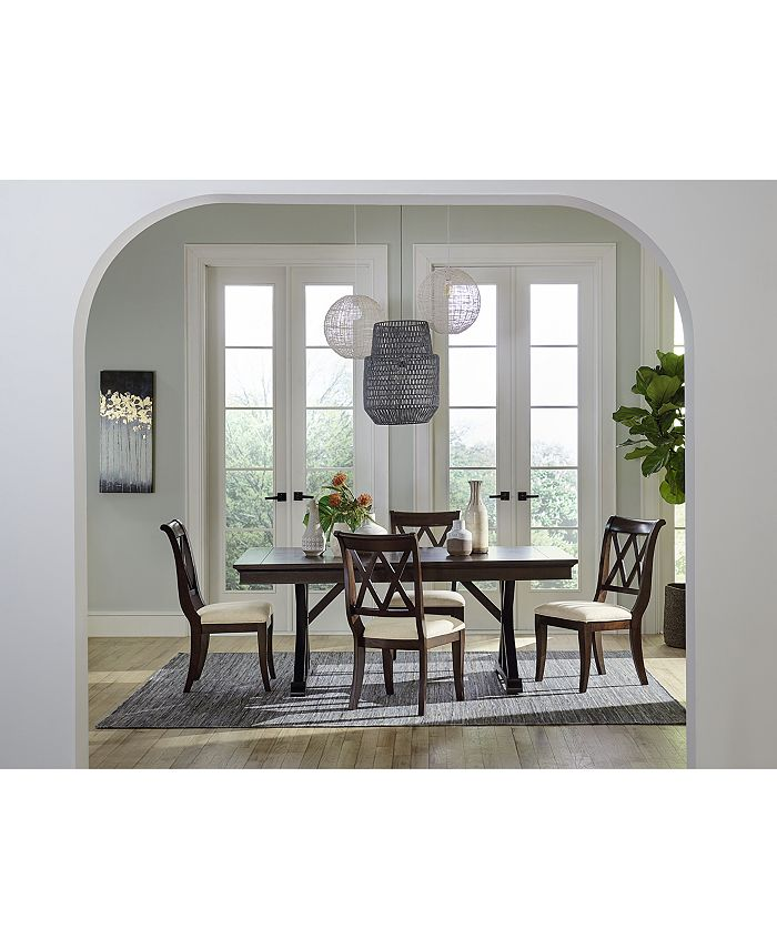 Furniture - Baker Street Dining , 5-Pc. Set (Dining Table & 4 Side Chairs)