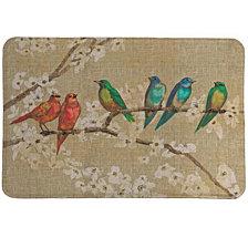 Birds And Blossoms Memory Foam Rug