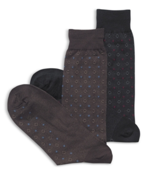 Club Room Socks, Medallion Printed Socks