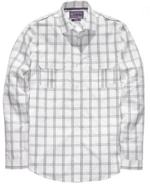 American Rag Shirt, Dobby Plaid Woven Shirt