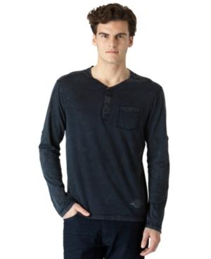 Calvin Klein Jeans Shirt, Long Sleeve Henley